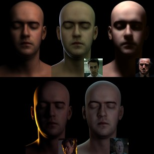 Skin Rendering Tests, Head model by Lee Perry Smith