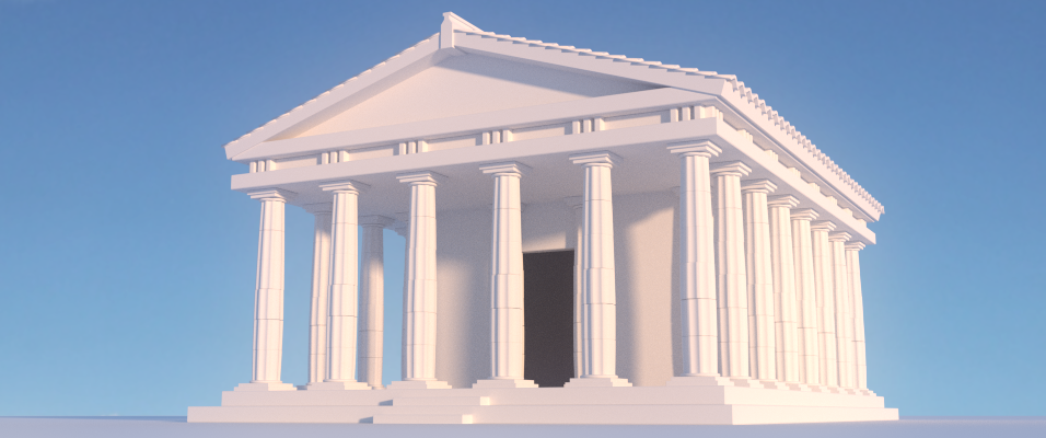 New Blender Cookie Tutorial Modelling an Ancient Greek Temple