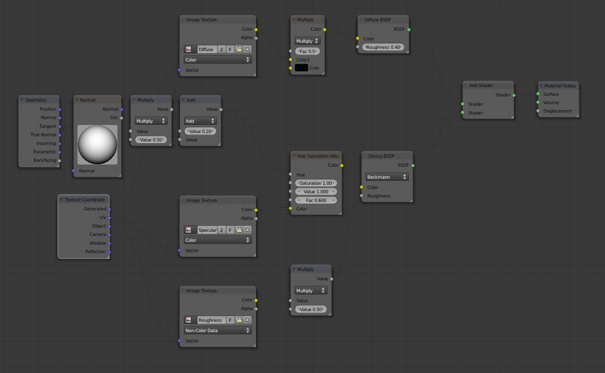 Creating node setups for cycles materials.